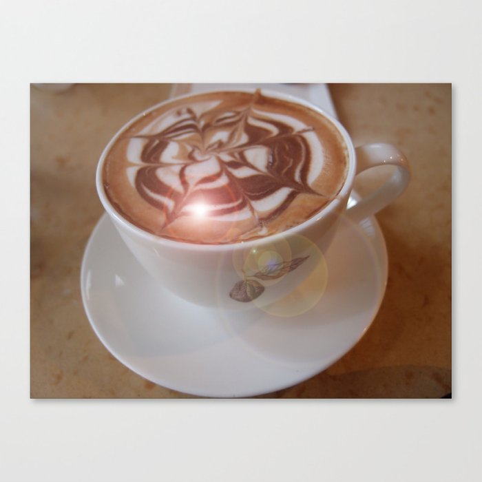 Coffee Art Canvas Print