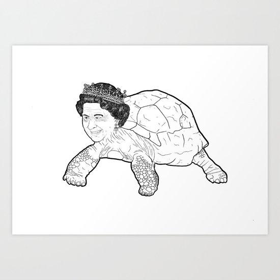 Queen Tortoise Art Print