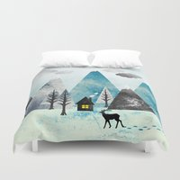 winter Duvet Covers featuring Winter by Sanja Amic