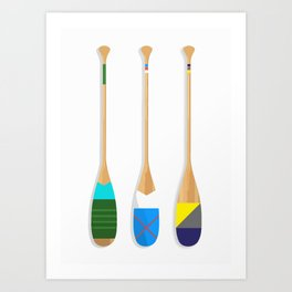 Painted Paddles Art Print