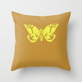 We Must Learn to Help Each Other -Mothra vs. Godzilla Throw Pillow