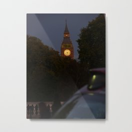 Evening Cab Metal Print