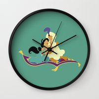 aladdin Wall Clocks featuring aladdin by Live It Up