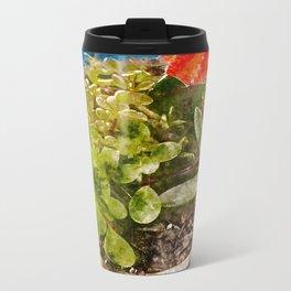 Succulent Metal Travel Mug