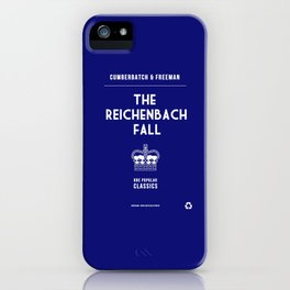 BBC Sherlock The Reichenbach Fall Minimalist Poster iPhone Case