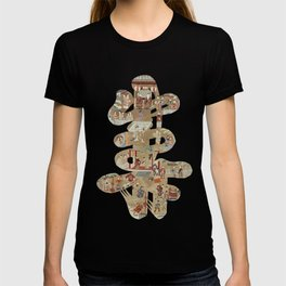 Chinese 'Shou' longevity character - silk embroidered calligraphy - lucky cursive symbol T-shirt