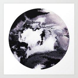 titanium white / carbon black / silver Art Print