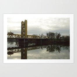 Tower Bridge - Sacramento, CA Art Print