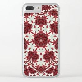 Red Rose Endings Mandala Clear iPhone Case