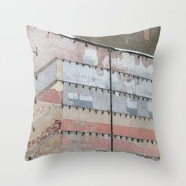 Architectural Detail Wall, Salvage, Old building, Chicago Throw Pillow