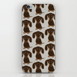 Chocolate Dachshund | Cute Cartoon Wiener Dog iPhone Skin