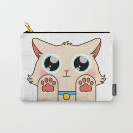 Cream Pastel Cat Carry-All Pouch