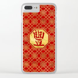 Abudance Feng Shui Symbol in bagua shape Clear iPhone Case