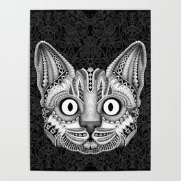 Egypt cat aztec pattern Poster