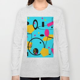 retro abstract blue Long Sleeve T-shirt