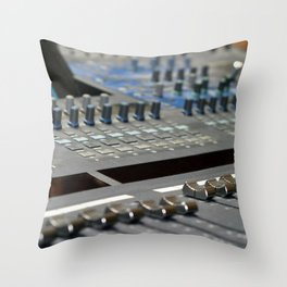 Mixing Console Throw Pillow