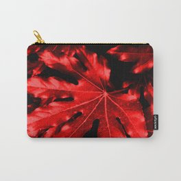 Festive Fatsia - Christmas Red Carry-All Pouch