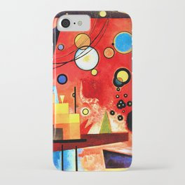 Wassily Kandinsky - Heavy Red - Abstract Art iPhone Case