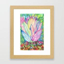 Crystal Lotus Framed Art Print