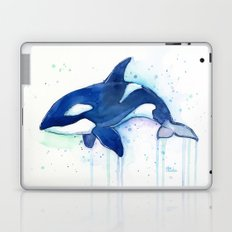 Killer Whale Orca Watercolor Painting Animal Art Laptop & iPad Skin