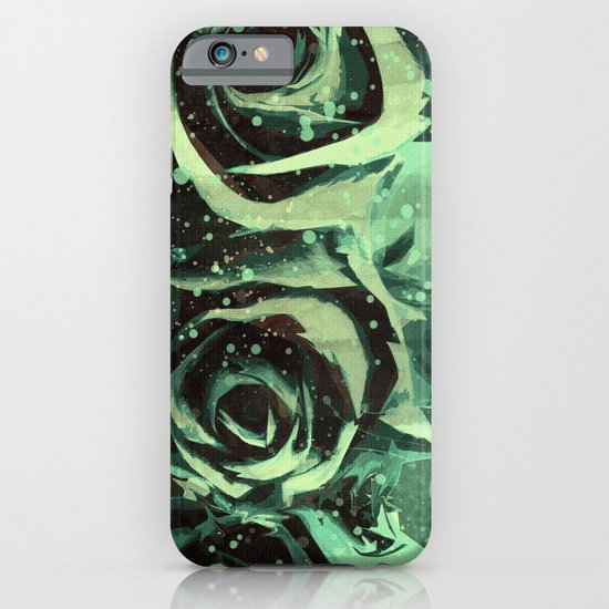 Turquoise Roses iPhone & iPod Case