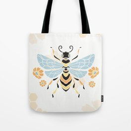 Honey Bee Abstract Pattern Tote Bag