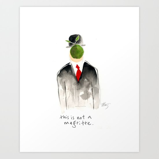this is not a magritte Art Print
