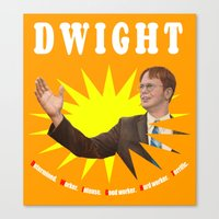 dwight schrute Canvas Prints featuring Dwight Schrute  |  The Office by Silvio Ledbetter