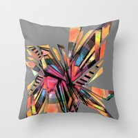 vodka Throw Pillows featuring vodka by Urban Artist