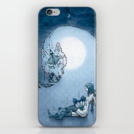 Juliana & The Wolf Spirit iPhone Skin