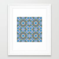 finland Framed Art Prints featuring Finland Kaleidoscope by Lu Haddad