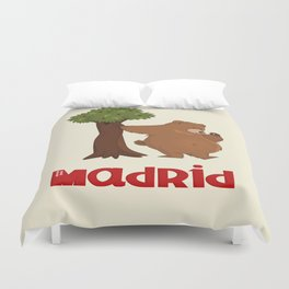 MADRID: Bear and Madrono (v.2) Duvet Cover