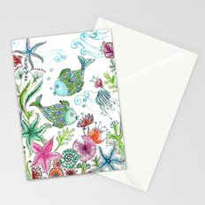 2 fishes Stationery Cards