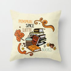 PSL & Books Throw Pillow