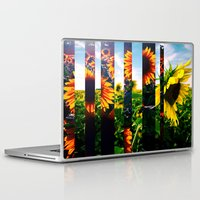 maryland Laptop & iPad Skins featuring Sunflowers in Maryland by kpatron