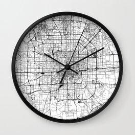 Beijing White Map Wall Clock