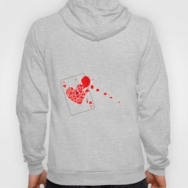 Ace of Hearts With Blood Hoody