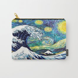 Starry Wave Night Carry-All Pouch