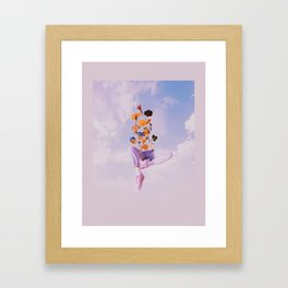 Dreamers in the clouds Framed Art Print