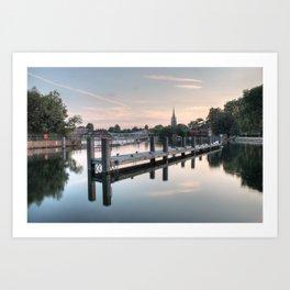 Evening over Marlow Art Print
