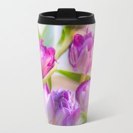 Multicolor Tulip Bouquet Spring Mood #decor #society6 #buyart Travel Mug