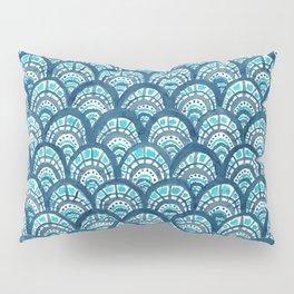 JEWELED SCALES Mermaid Watercolor Pillow Sham