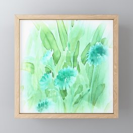 Soft Watercolor Floral Framed Mini Art Print