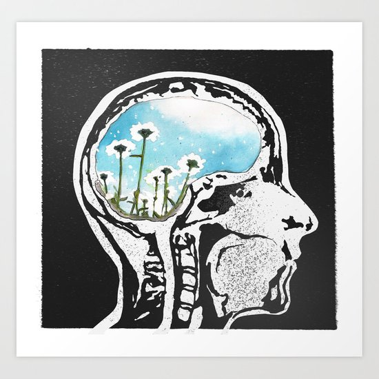 Brain Flowers Art Print