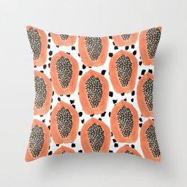 Bold Papayas Throw Pillow