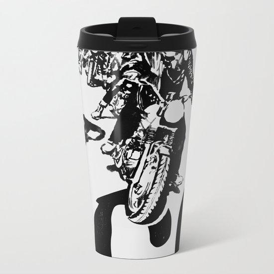 The Horde Motorcycle Art Print Metal Travel Mug