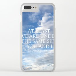 The Same Sky Clear iPhone Case