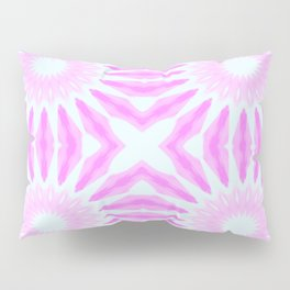 Pink Pinwheel Flowers Pillow Sham