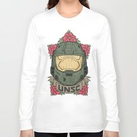 halo Long Sleeve T-shirts featuring Halo UNSC by Daniel Mackey
