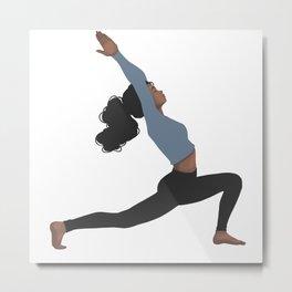 Yoga Girl Blue II Metal Print